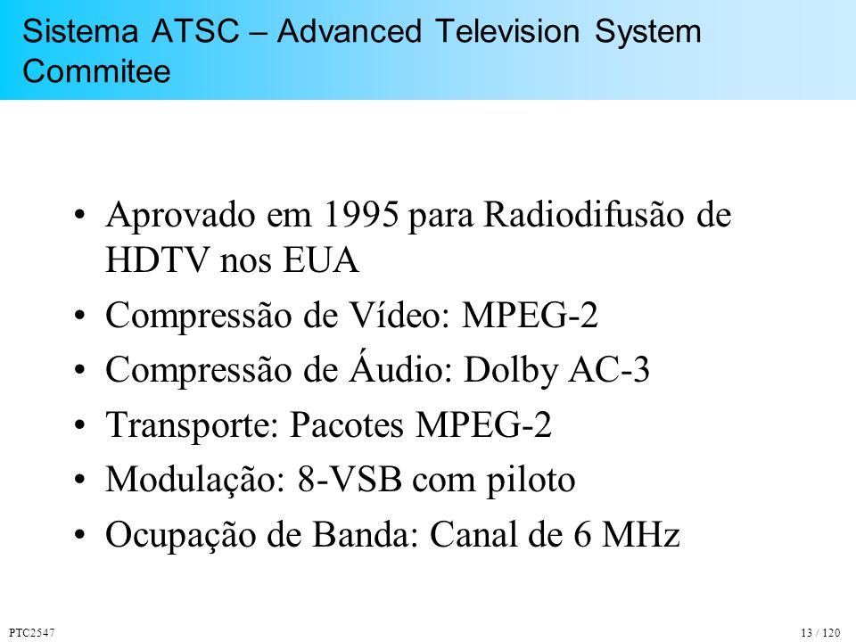 Sistema ATSC – Advanced Television System Commitee