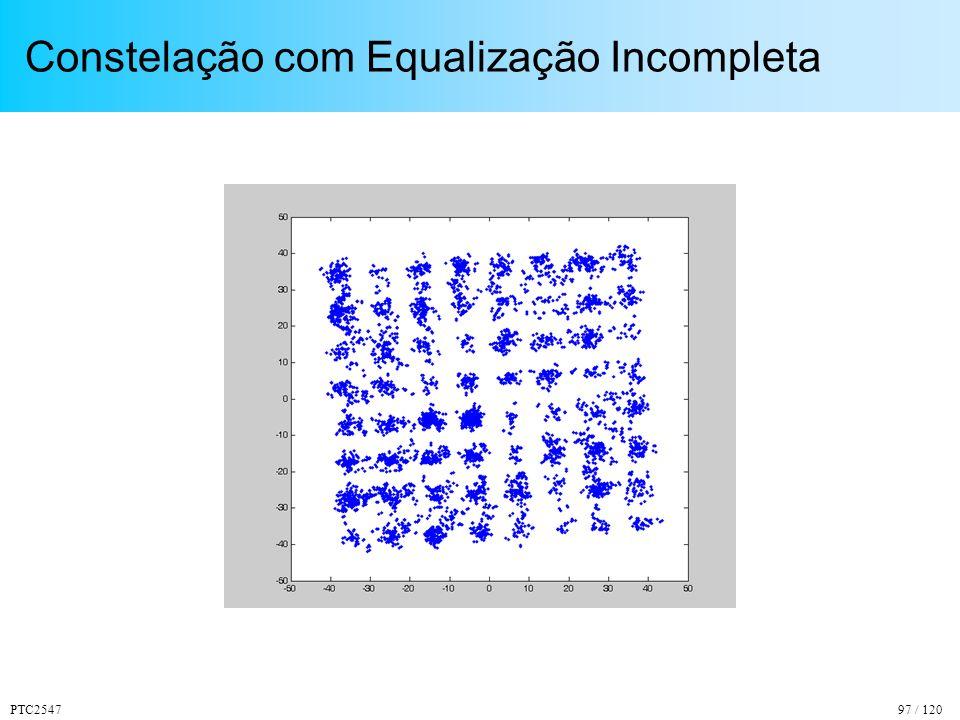 Constelação com Equalização Incompleta