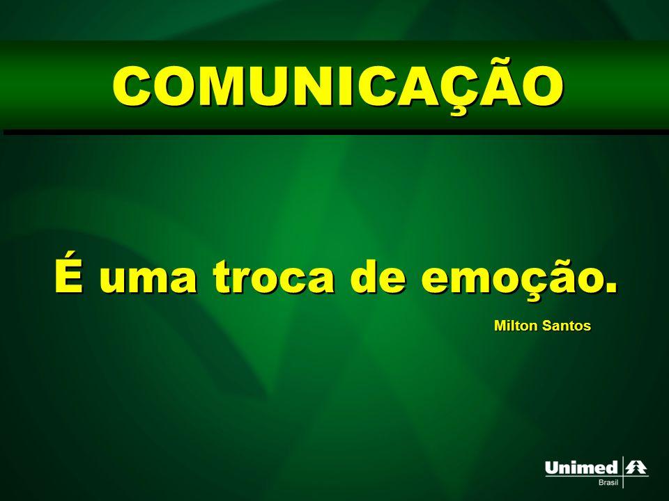 COMUNICAÇÃO É uma troca de emoção. Milton Santos
