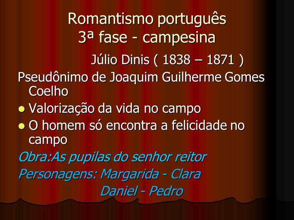 Romantismo português 3ª fase - campesina