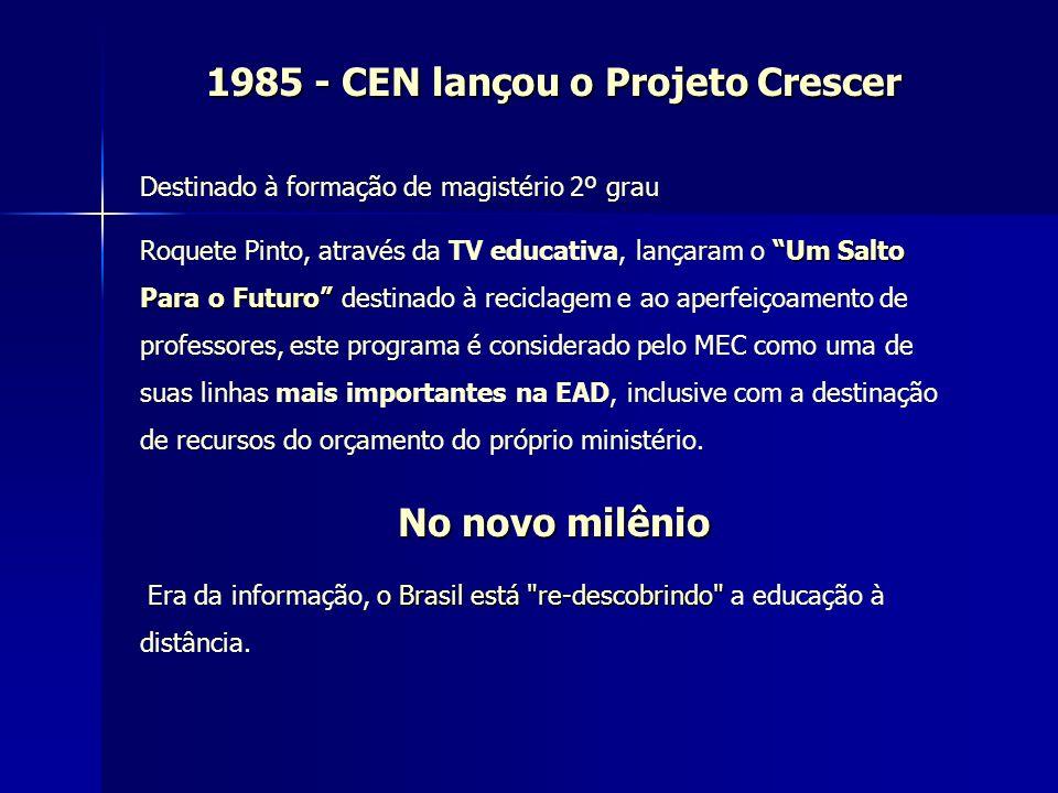 1985 - CEN lançou o Projeto Crescer