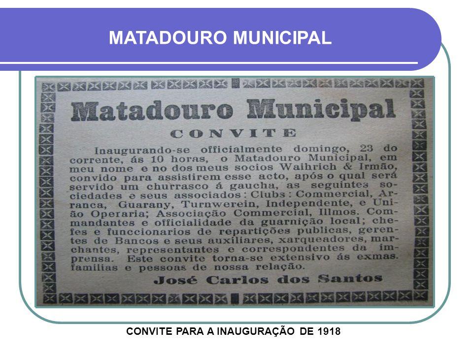 CONVITE PARA A INAUGURAÇÃO DE 1918
