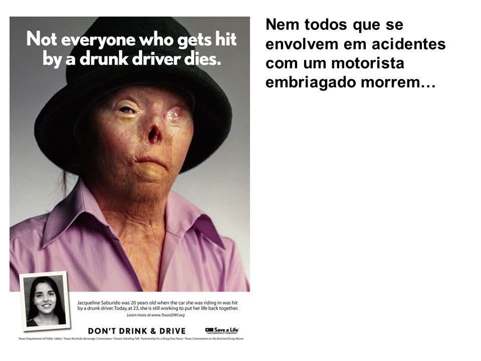 Nem todos que se envolvem em acidentes com um motorista embriagado morrem…