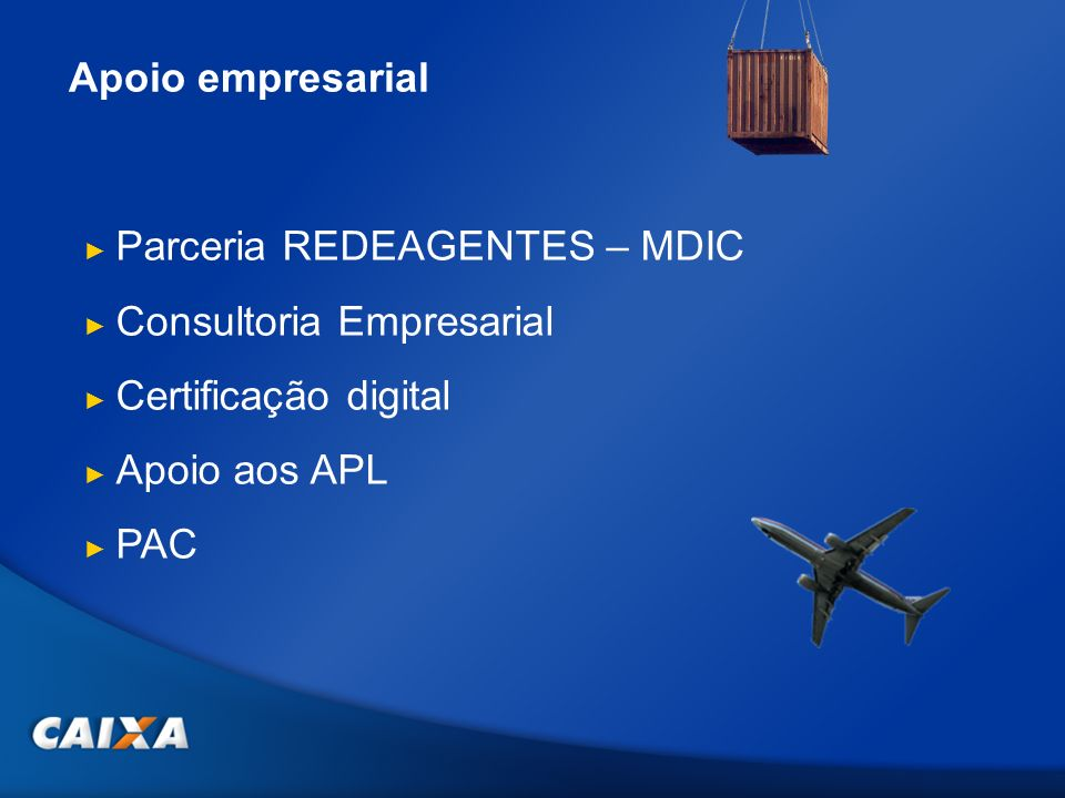 Apoio empresarial Parceria REDEAGENTES – MDIC. Consultoria Empresarial. Certificação digital. Apoio aos APL.
