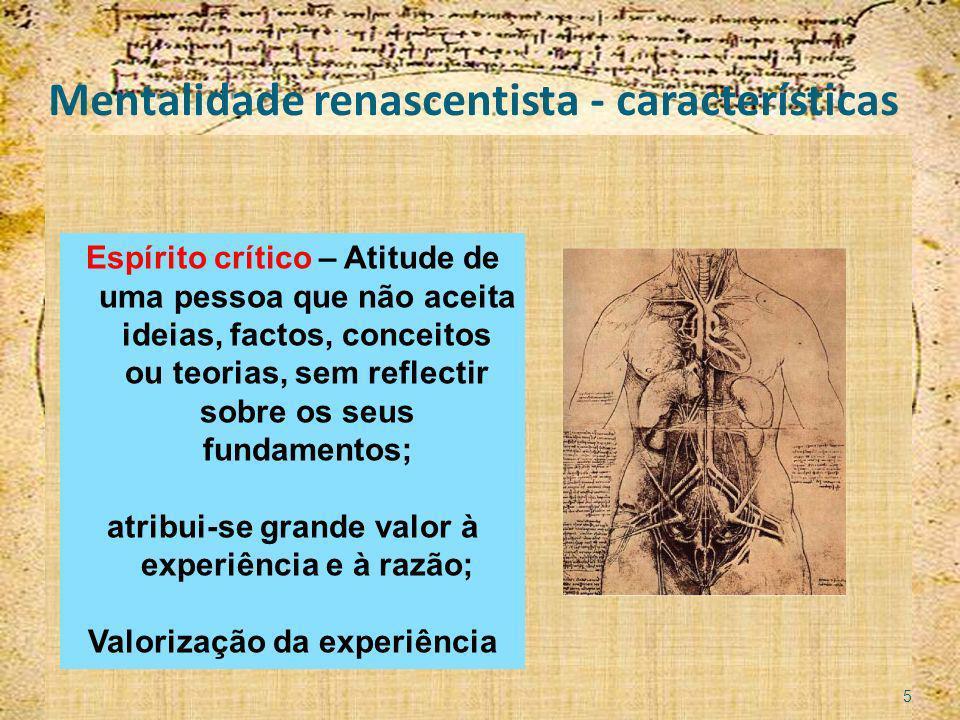 Mentalidade renascentista - características