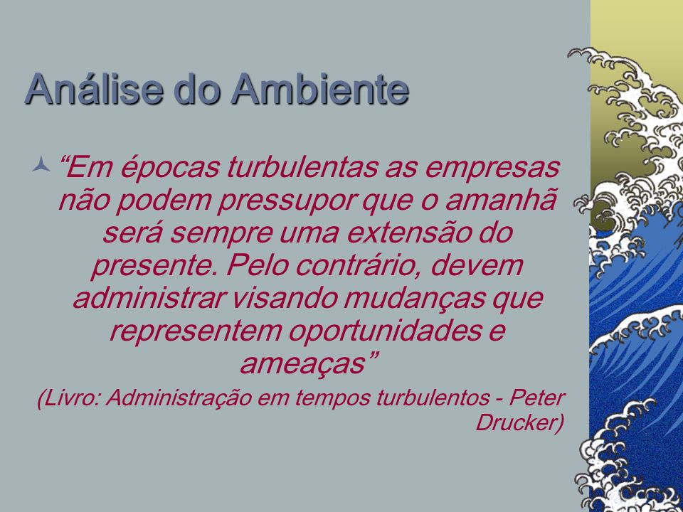 Análise do Ambiente