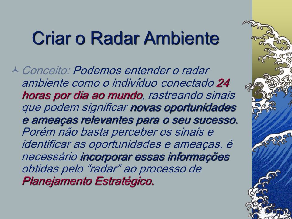 Criar o Radar Ambiente
