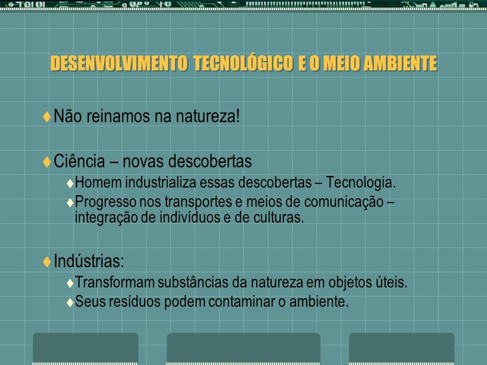 DESENVOLVIMENTO TECNOLÓGICO E O MEIO AMBIENTE