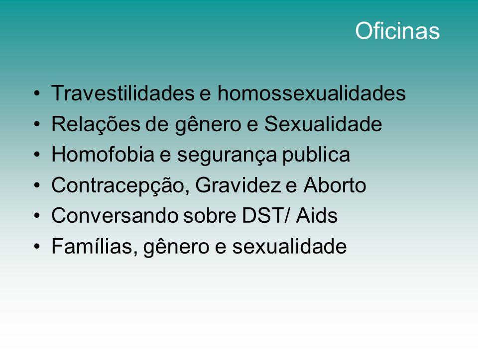 Oficinas Travestilidades e homossexualidades