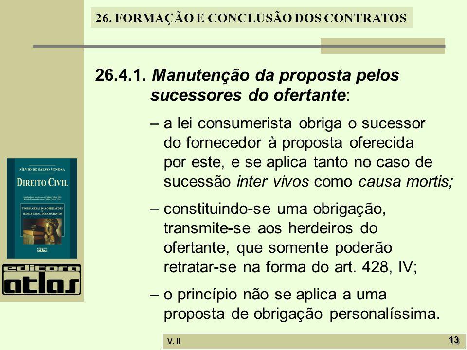 26.4.1. Manutenção da proposta pelos sucessores do ofertante: