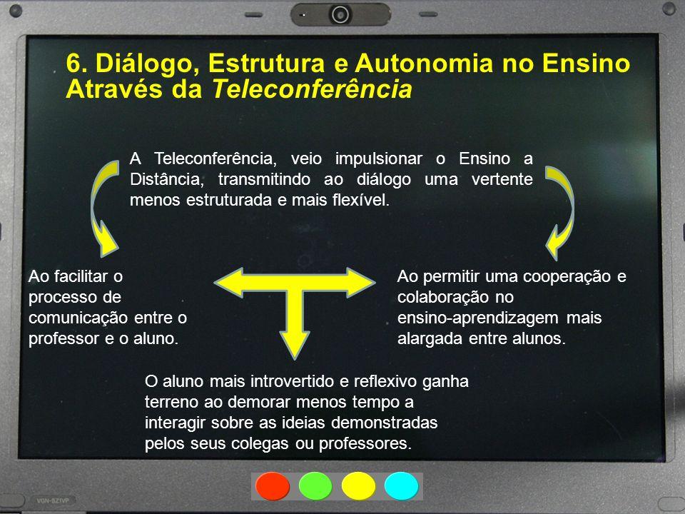 6. Diálogo, Estrutura e Autonomia no Ensino Através da Teleconferência