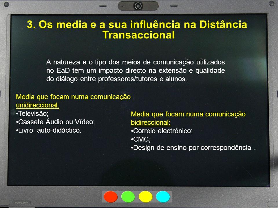 3. Os media e a sua influência na Distância