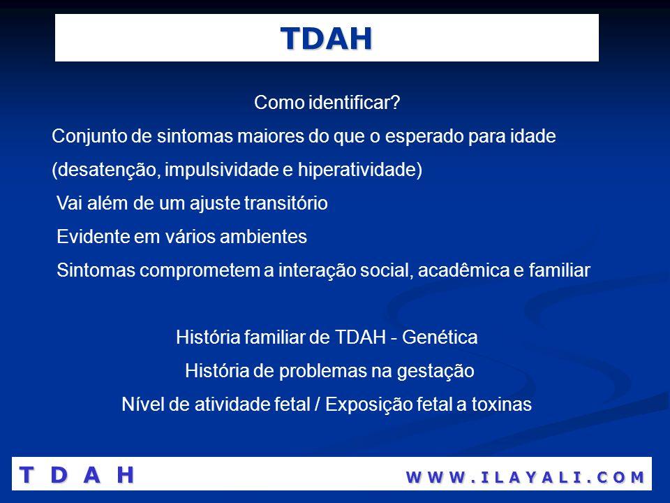 TDAH T D A H W W W . I L A Y A L I . C O M Como identificar
