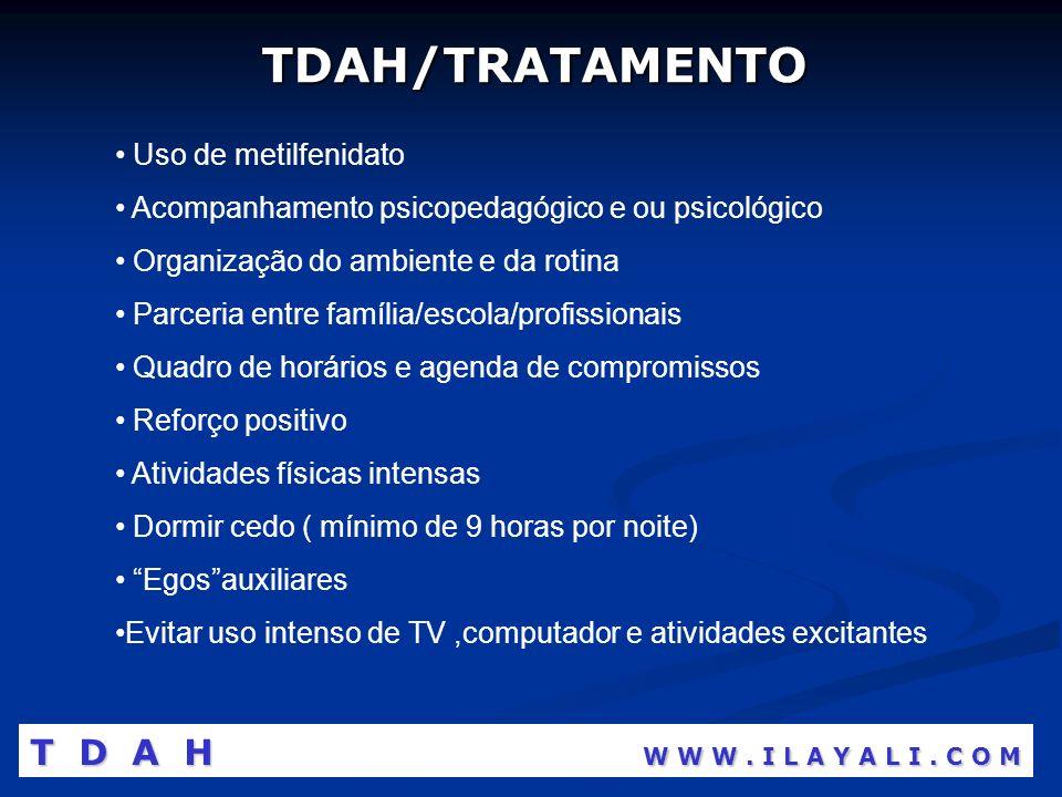 TDAH/TRATAMENTO T D A H W W W . I L A Y A L I . C O M
