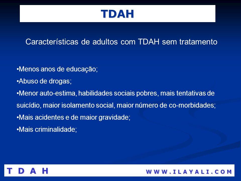 Características de adultos com TDAH sem tratamento