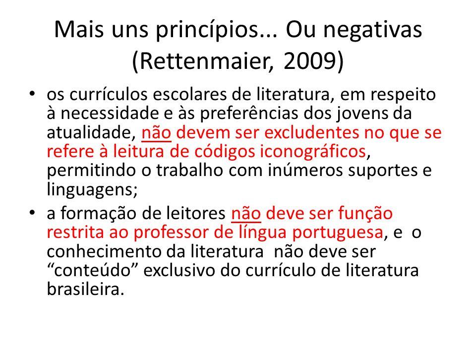 Mais uns princípios... Ou negativas (Rettenmaier, 2009)