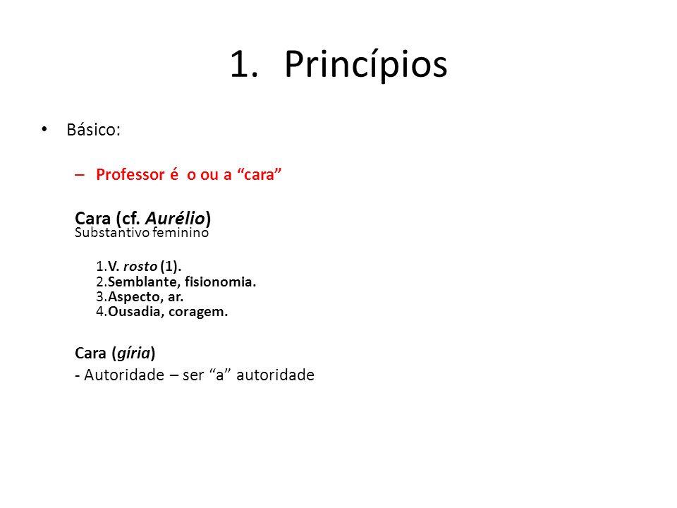 Princípios Substantivo feminino