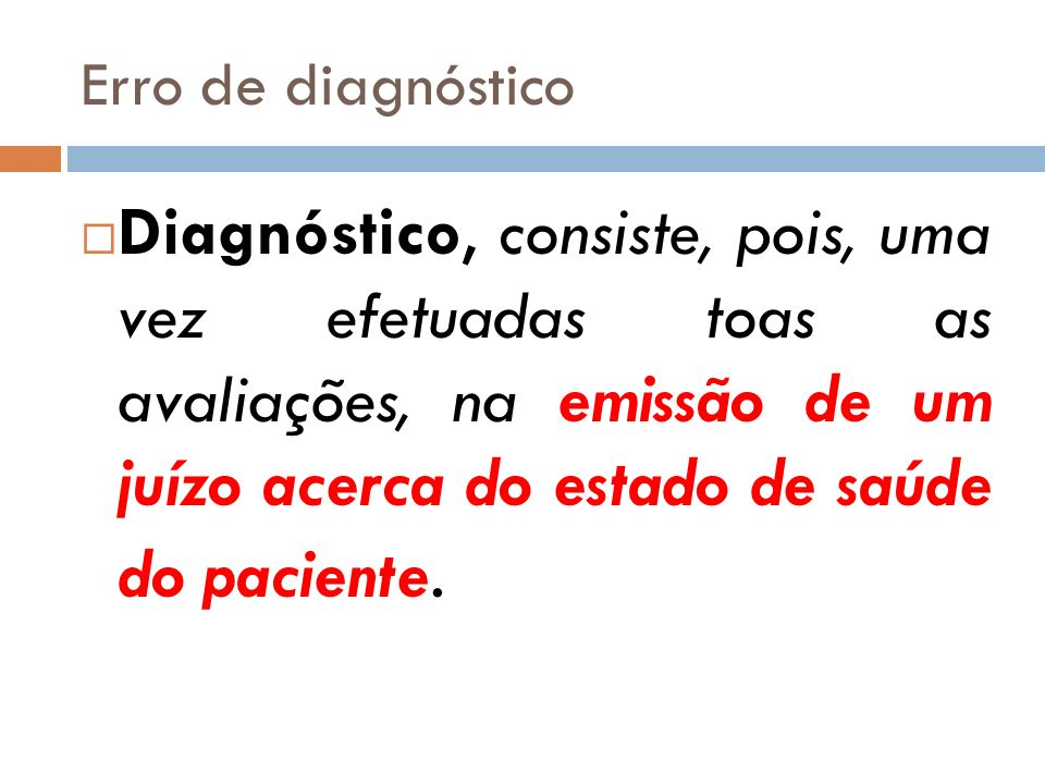 Erro de diagnóstico