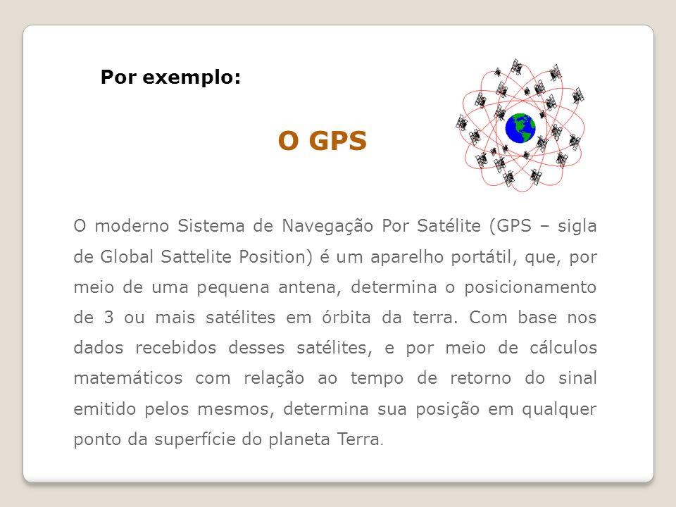 Por exemplo: O GPS.