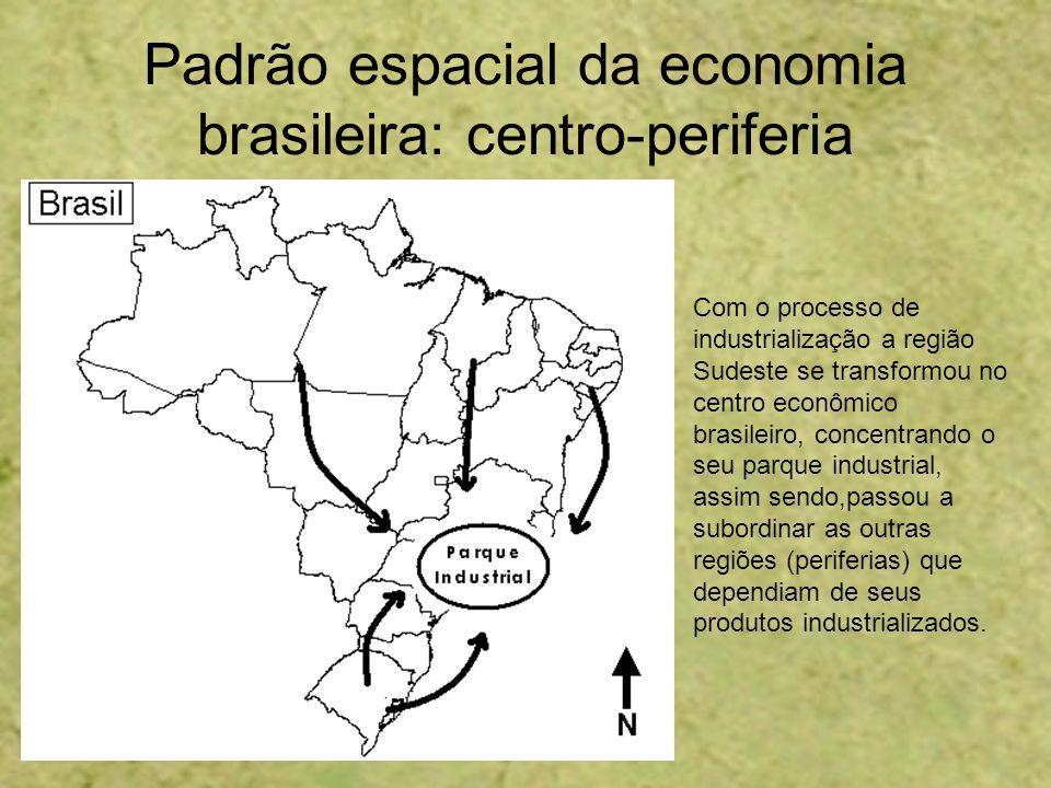 Padrão espacial da economia brasileira: centro-periferia