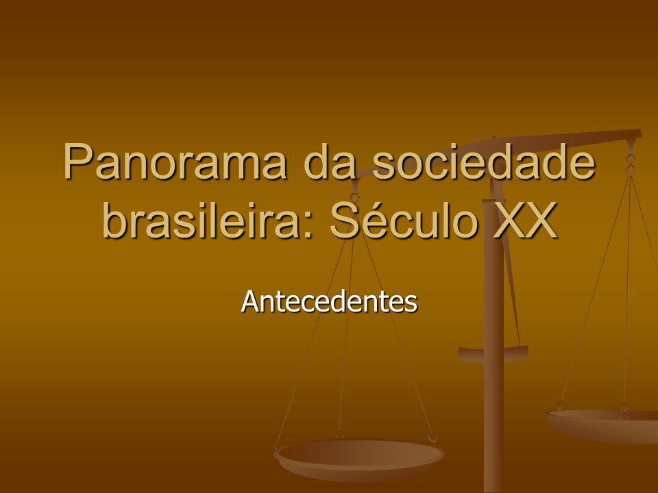 Panorama da sociedade brasileira: Século XX
