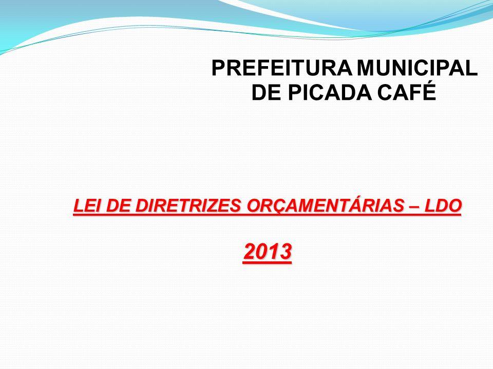 PREFEITURA MUNICIPAL DE PICADA CAFÉ 2013