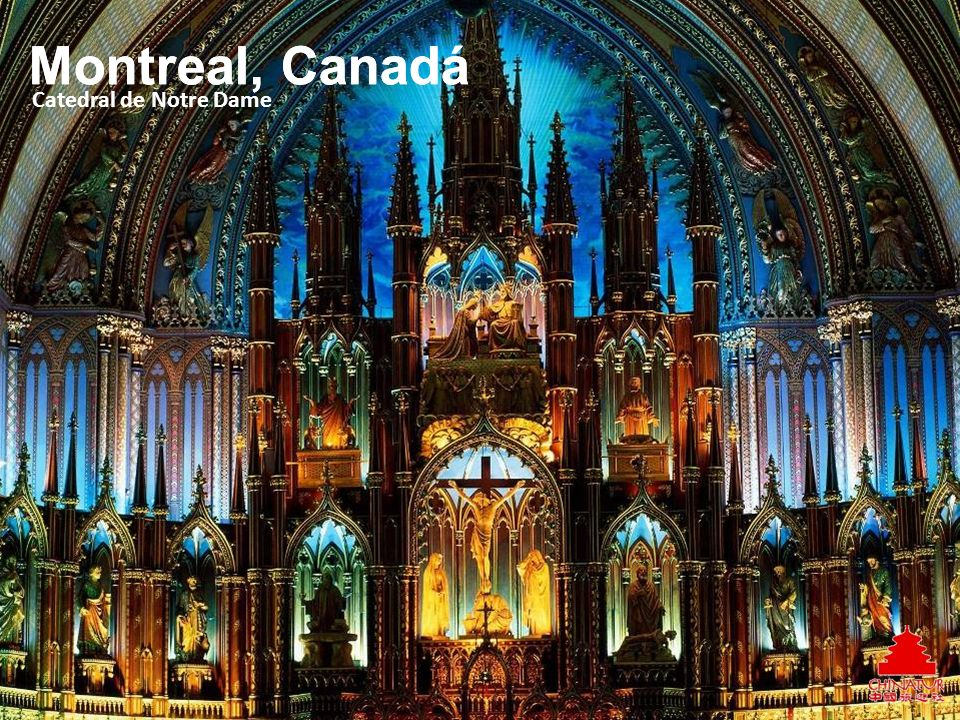 Montreal, Canadá Montreal, Canadá Catedral de Notre Dame