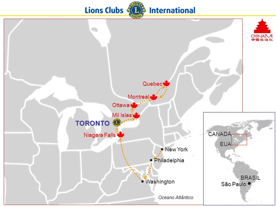 TORONTO Quebec Montreal Ottawa Mil Islas Niagara Falls CANADÁ EUA