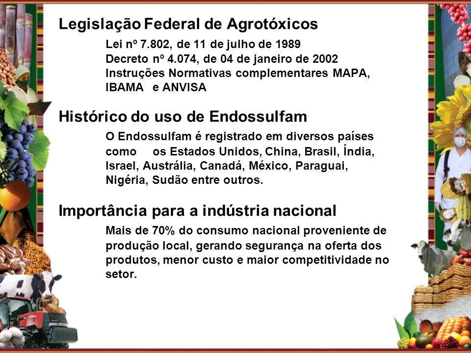 Legislação Federal de Agrotóxicos. Lei nº 7