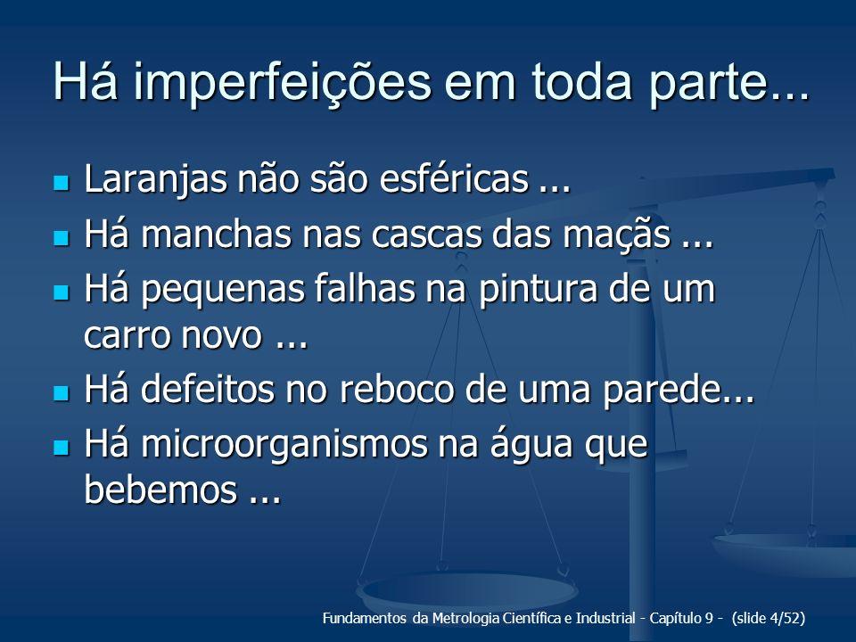 Há imperfeições em toda parte...