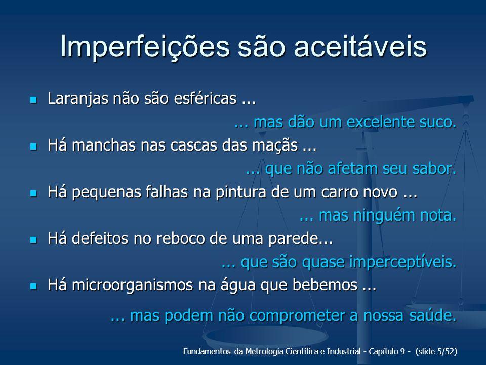 Imperfeições são aceitáveis