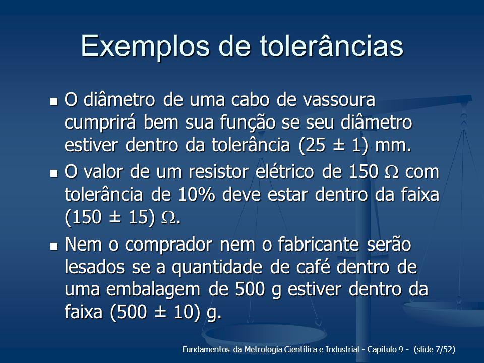 Exemplos de tolerâncias
