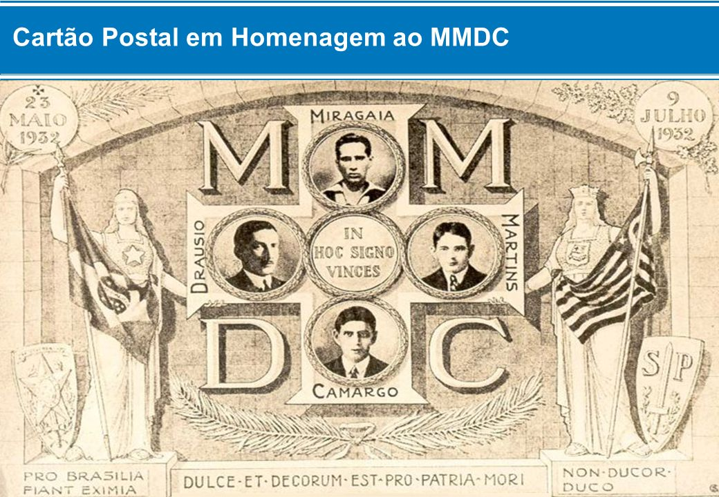 Cartão Postal em Homenagem ao MMDC