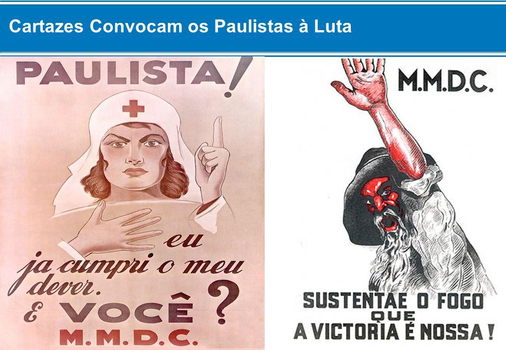 Cartazes Convocam os Paulistas à Luta