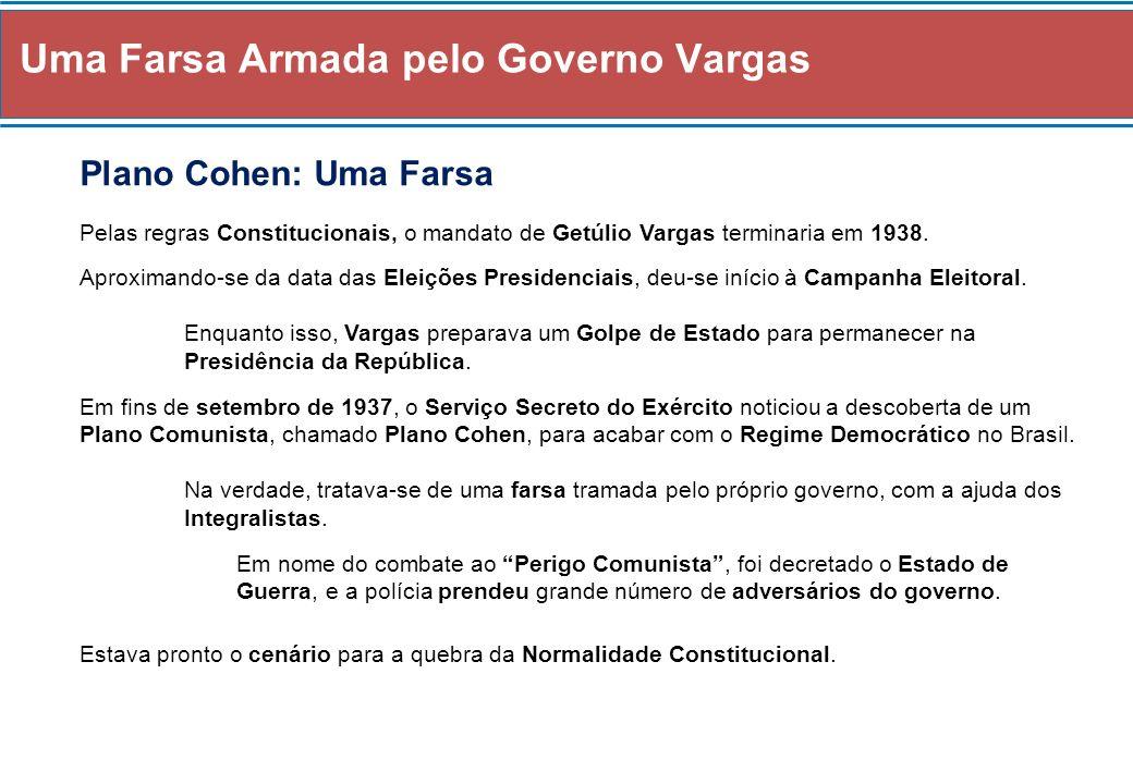 Uma Farsa Armada pelo Governo Vargas