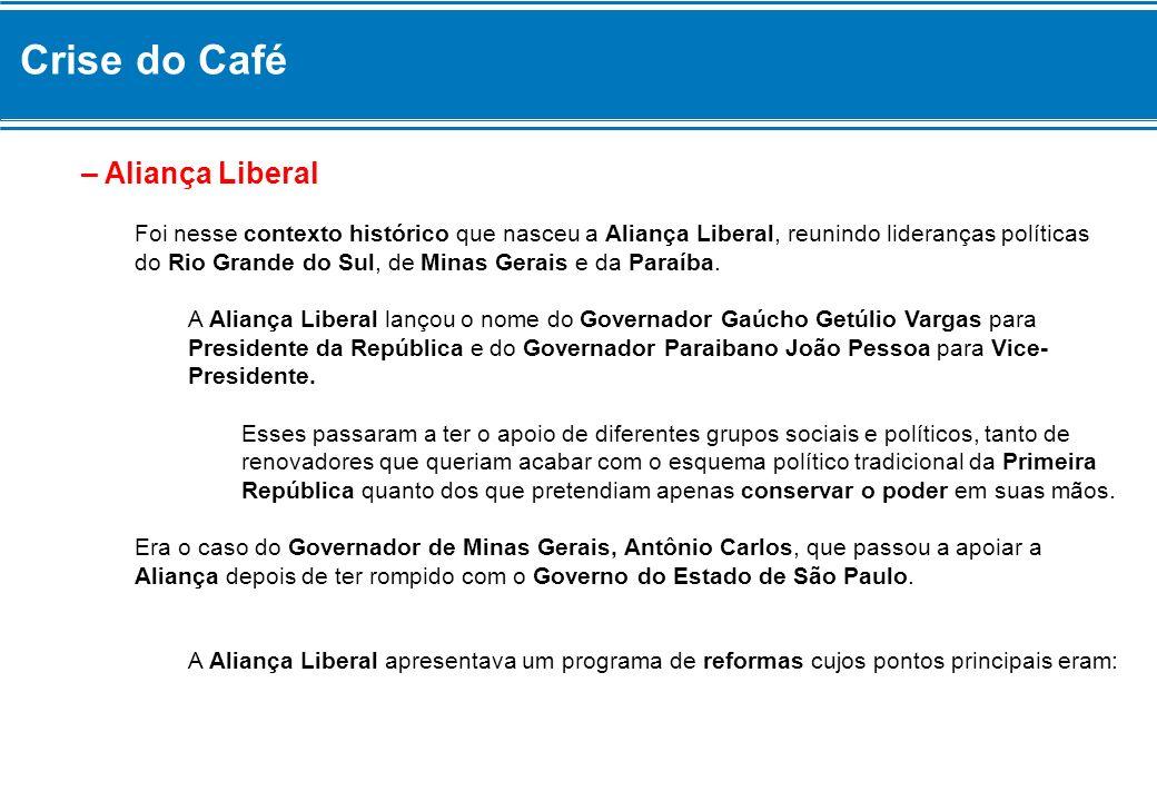 Crise do Café – Aliança Liberal