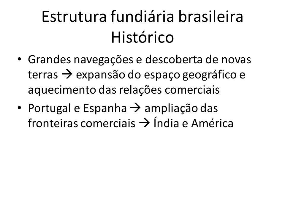 Estrutura fundiária brasileira Histórico