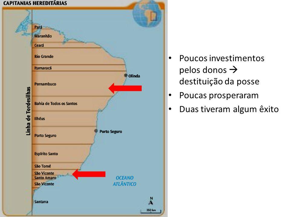 Poucos investimentos pelos donos  destituição da posse