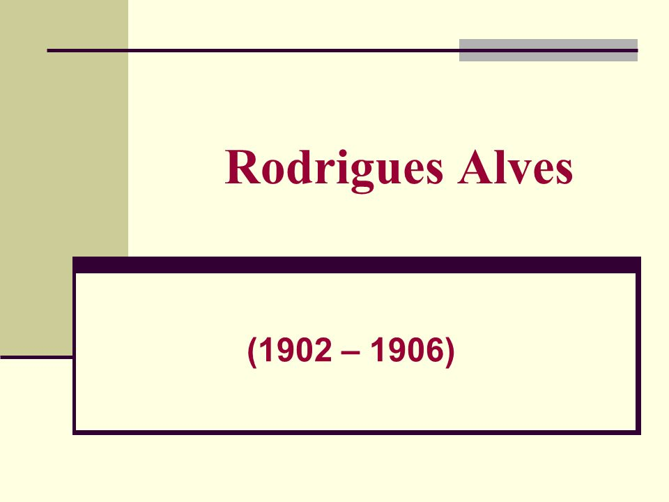 Rodrigues Alves (1902 – 1906)