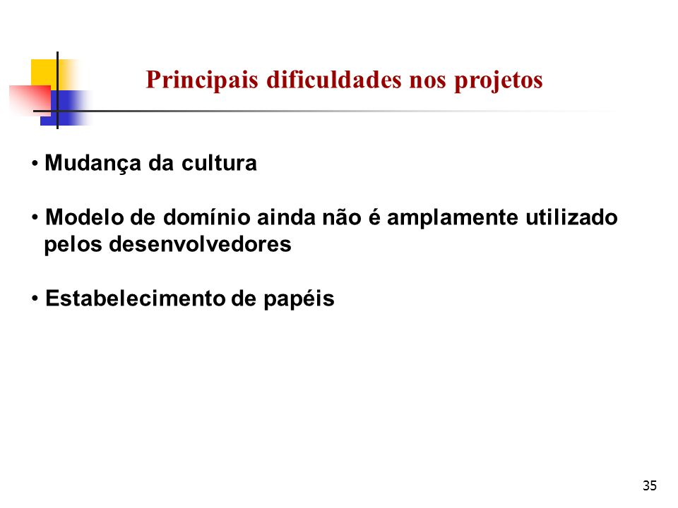 Principais dificuldades nos projetos