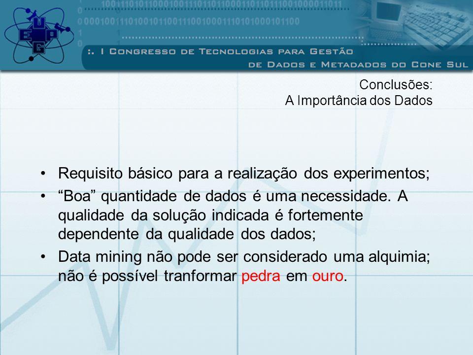 Requisito básico para a realização dos experimentos;