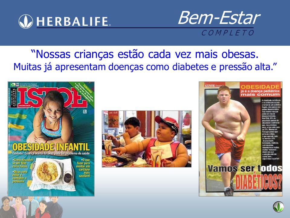 Nossas crianças estão cada vez mais obesas