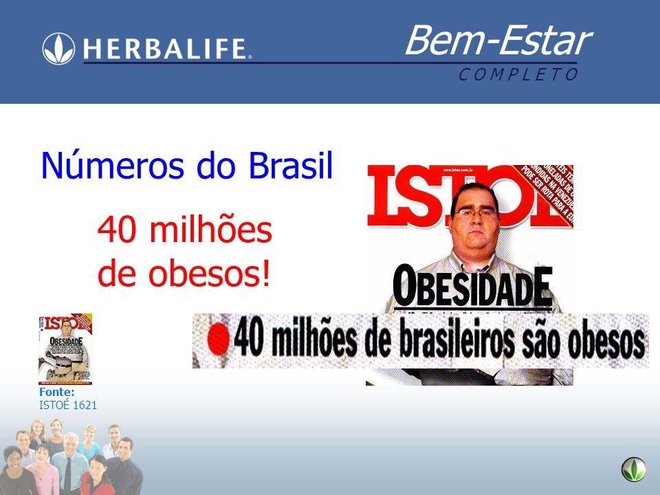 Números do Brasil 40 milhões de obesos! Fonte: ISTOÉ 1621