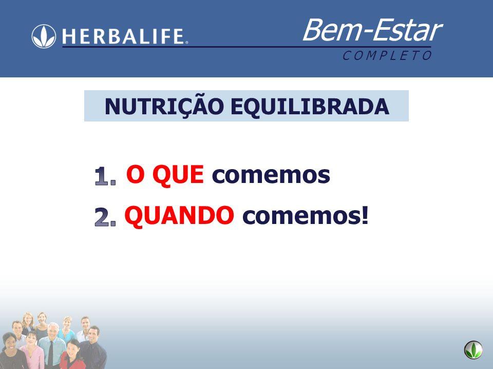 NUTRIÇÃO EQUILIBRADA O QUE comemos 1. QUANDO comemos! 2.
