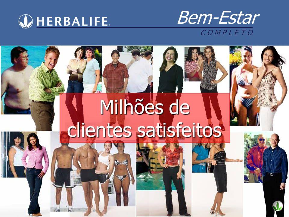 Milhões de clientes satisfeitos