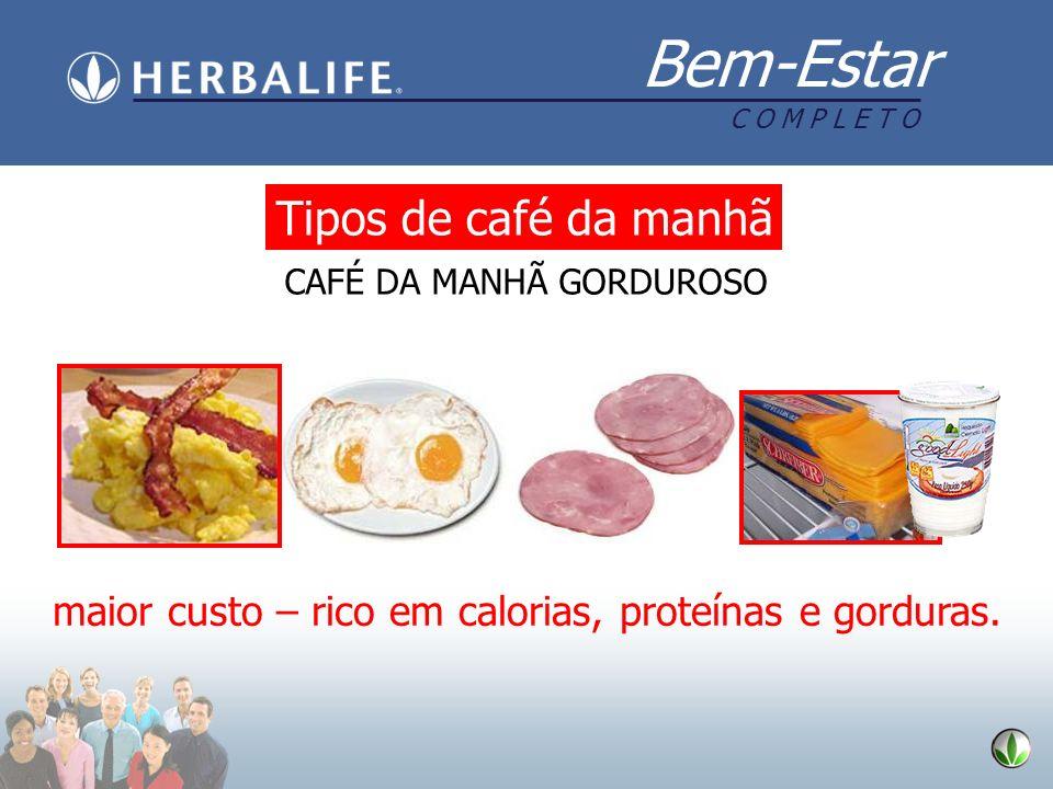 Tipos de café da manhã CAFÉ DA MANHÃ GORDUROSO.