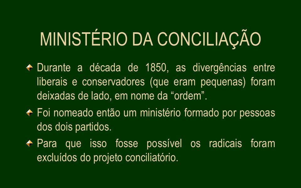 MINISTÉRIO DA CONCILIAÇÃO