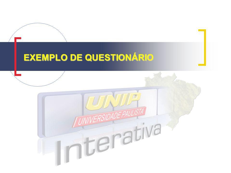 EXEMPLO DE QUESTIONÁRIO