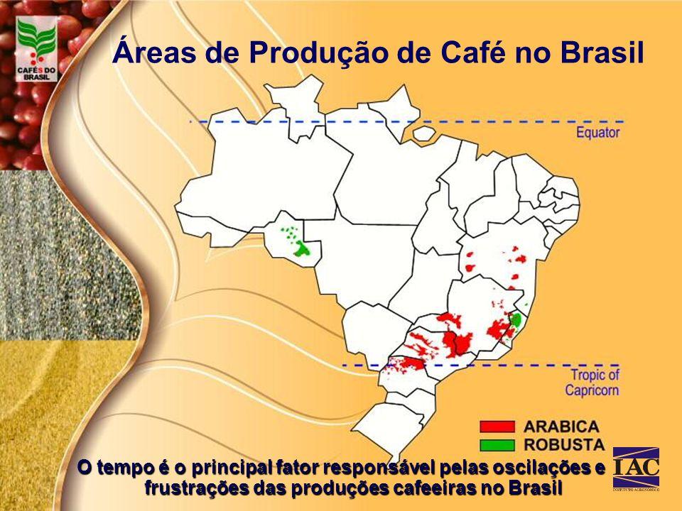 Áreas de Produção de Café no Brasil