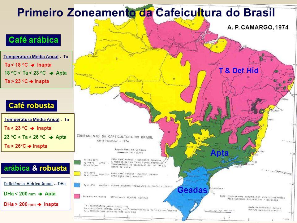 Primeiro Zoneamento da Cafeicultura do Brasil